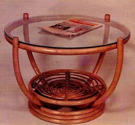 Novelty Cane Art RATTAN CENTER TABLE: CET2