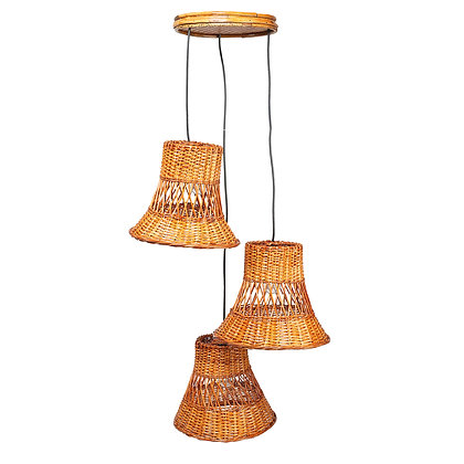 Novelty Cane Art Hanging Willow Wicker Bamboo Lamp Shade Handcrafted and Natural
