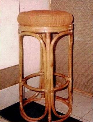 Novelty Cane Art RATTAN BAR STOOL: BS5
