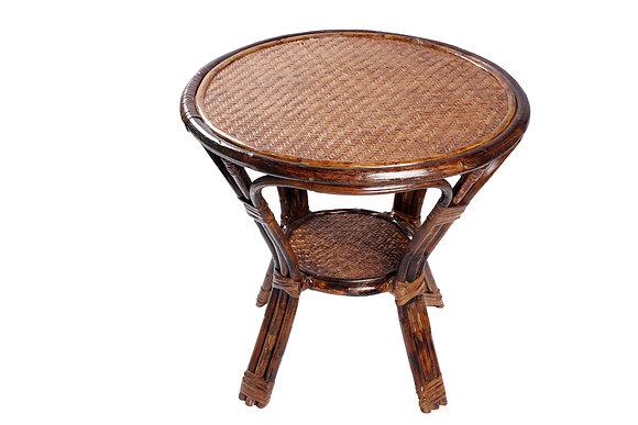 Novelty Cane Art Rattan Modern Round Table: CET10M18R