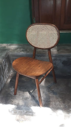 Novelty Cane Art Wooden Chair With Cane Weaving #3