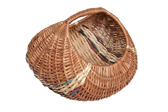 Novelty Cane Art Willow Wicker Round Basket(Washable)