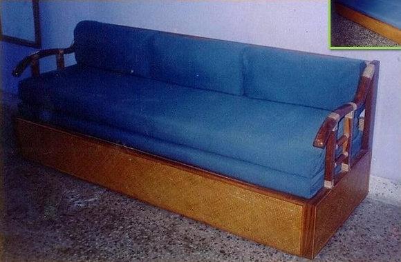 Novelty Cane Art SOFA CUM DOUBLE BED: SCB6