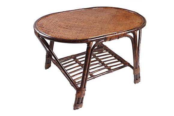 Novelty Cane Art Rattan Modern Oval Table