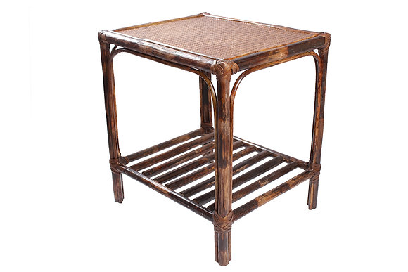 Novelty Cane Art Rattan Rectangle Classic Side Table