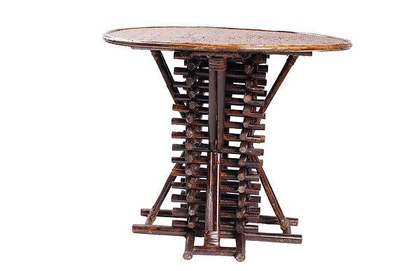 Novelty Cane Art Rattan Stylish Round Table