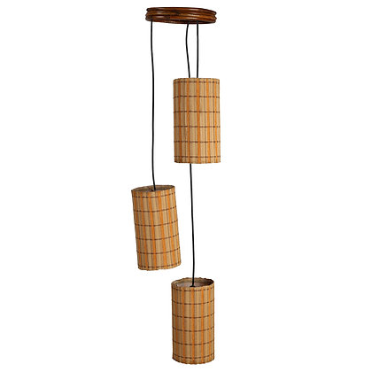 Novelty Cane Art Hanging Bamboo Cotton Lamp Shade Handcrafted and Natural