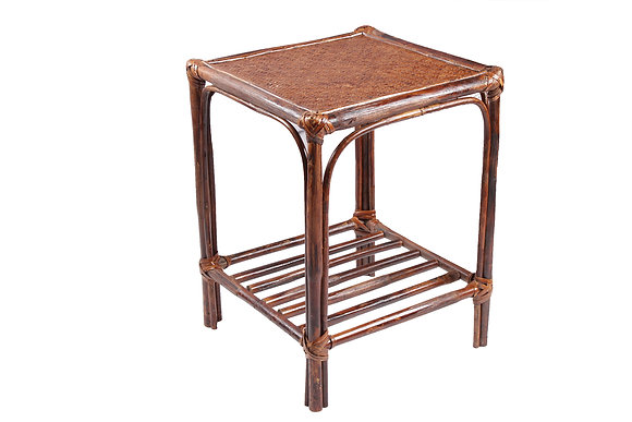 Novelty Cane Art Rattan Rectangle Classic Side Table: ST1M12X12SQ