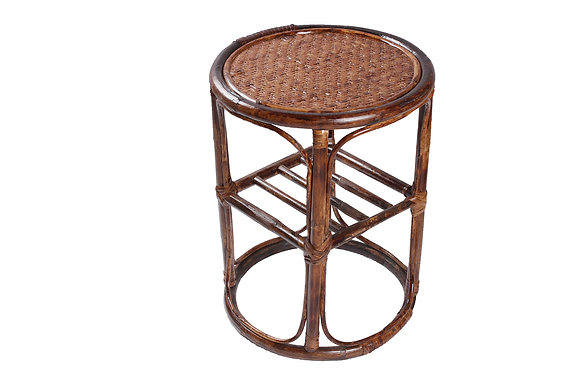 Novelty Cane Art Rattan Round Table Side Table: ST9A12RON18H