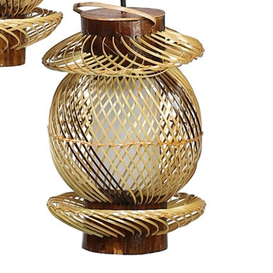 Novelty Cane Art Hanging Bamboo Lamp Shade Handcrafted and Natural for Home Deco