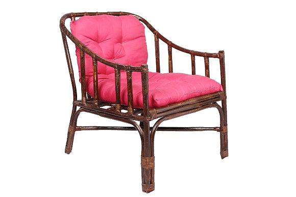 Novelty Cane Art Rattan Contemporary Styled Arm Chair with Cushion: CH50TAJ1