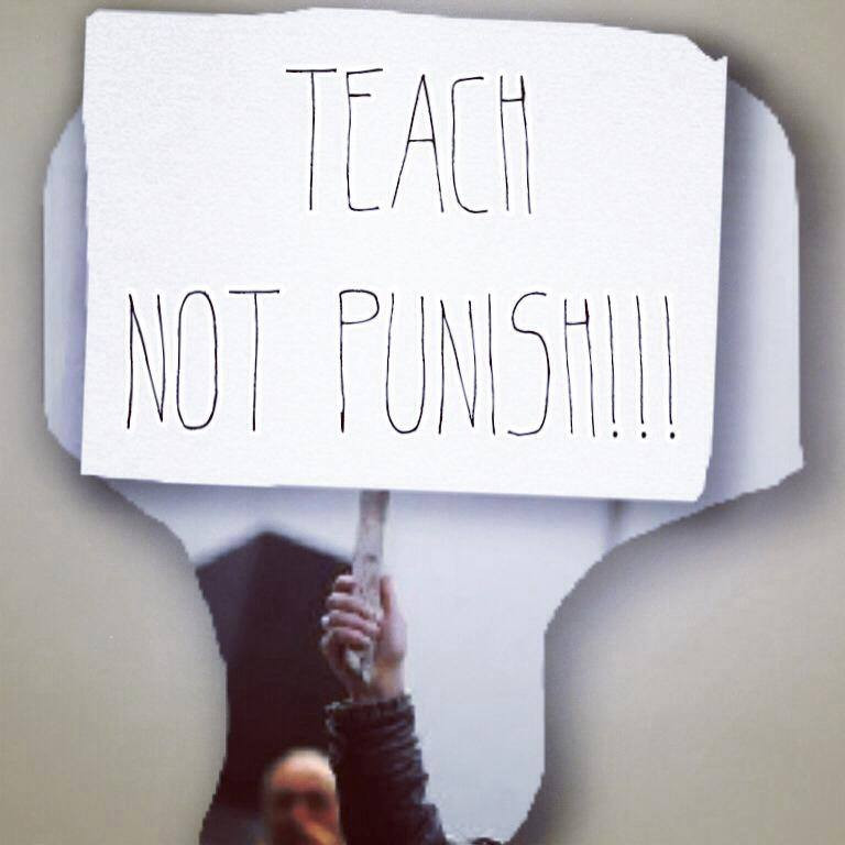 Teach Not Punish's first FB post