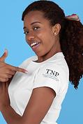 mockup-of-a-woman-pointing-at-a-t-shirt-
