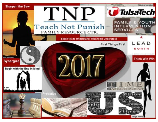 T'erra Estes' 2017 Vision Board