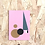 Thumbnail: Geometric Art Card Pink (Single)