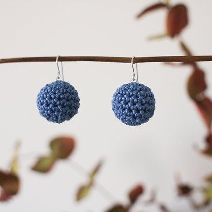 Crochet Earrings Blue