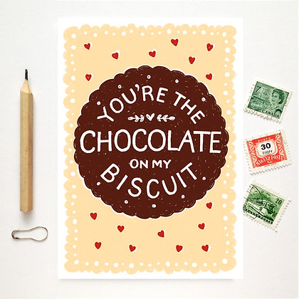 Chocolate on my Biscuit Card