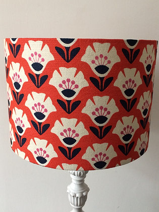 Red Floral Lampshade
