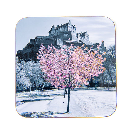 Edinburgh Castle Blossom Coaster
