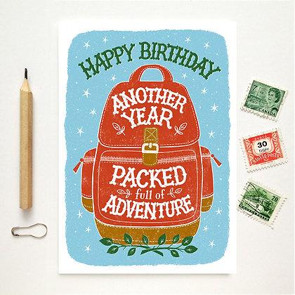 Happy Birthday Adventure Card