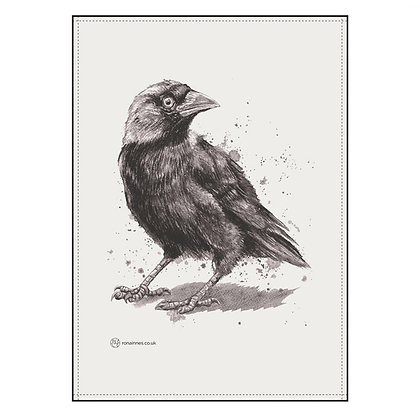 Jackdaw Tea Towel