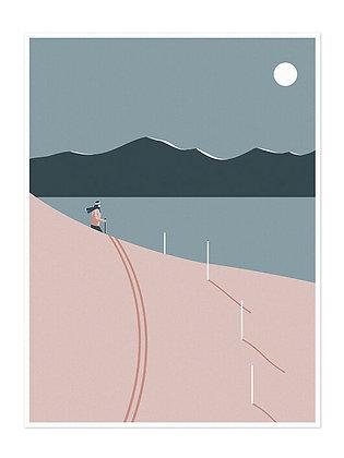 Skier Print