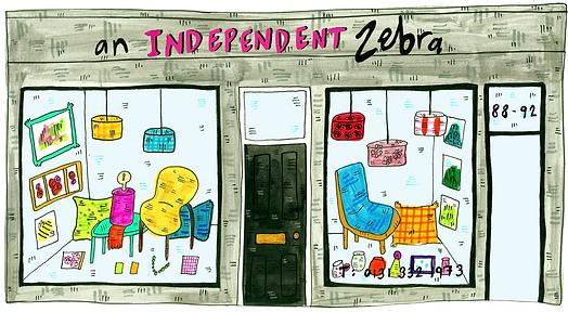 An Independent Zebra Illustration