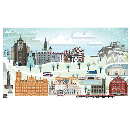 Edinburgh Winter Print