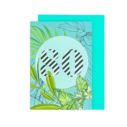 80th Birthday card An Independent Zebra