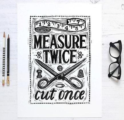 Measure Twice - Sewing Print