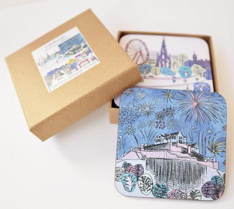 Edinburgh Festival Coasters - 4 Pack