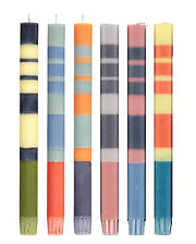 Striped Candle 6 Pack
