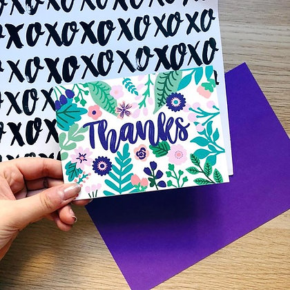 Thanks Card by XOXO Designs