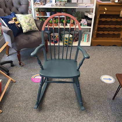 Grey and Pink Rocking Chair