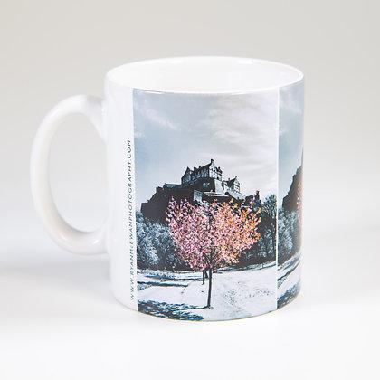 Edinburgh Castle Blossom Mug