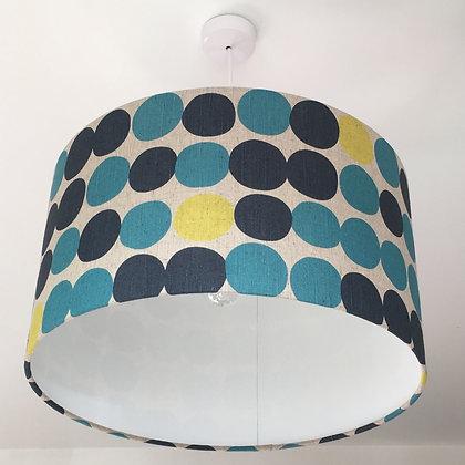 Big Blue Spots Lampshade