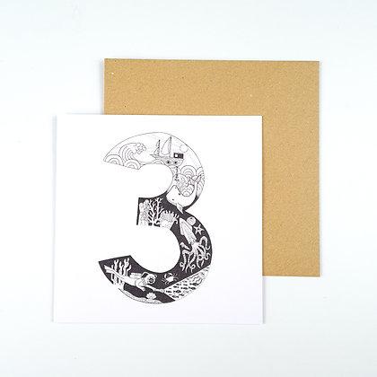 3rd Birthday Ocean Themed Card