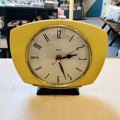 Upcycled Clock Yellow