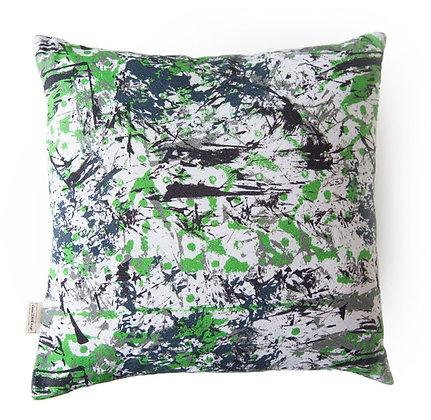 Green Abstract Cushion