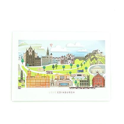 Edinburgh illustrated Card