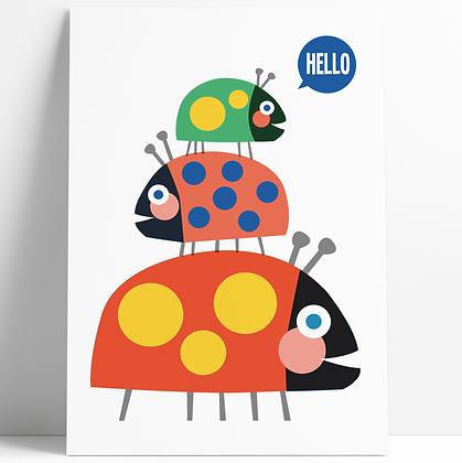 Ladybird Stack Print
