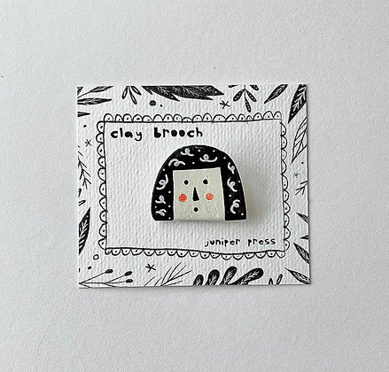 Nelly Clay Brooch