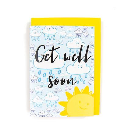 Get well soon card An Independent Zebra