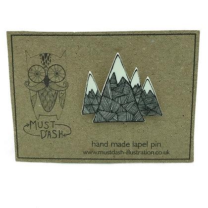 Mountains Pin Badge