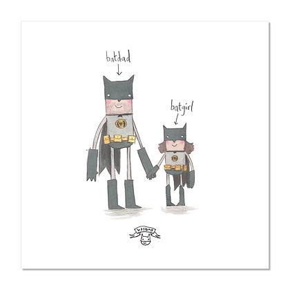 Batgirl Print The Grey Earl