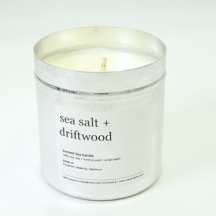 Sea Salt & Driftwood Scented Candle