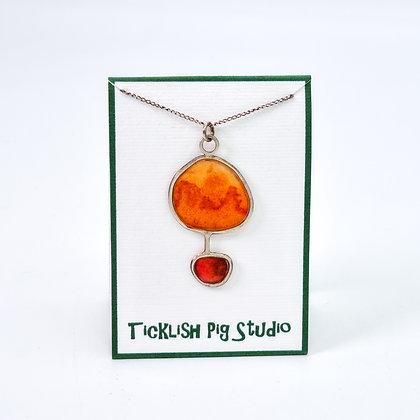 Orange Pendant Necklace