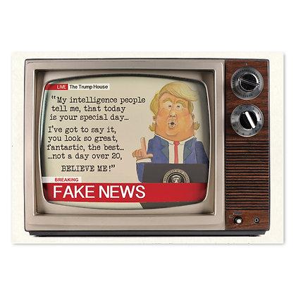 Fake News Donald Trump Card