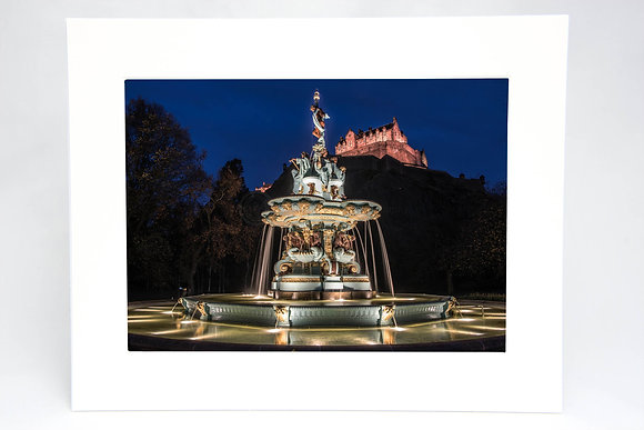 Ross Fountain Mounted Print