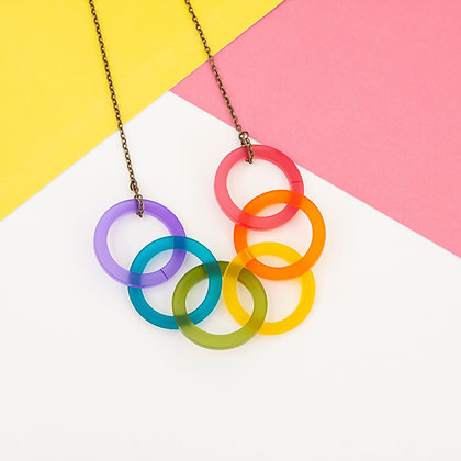 Rainbow Chain Necklace